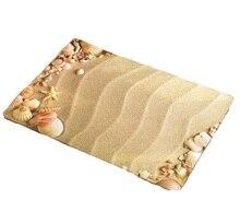 Cammitever areia praia mar estrelas tapete tapete banheiro cozinha para o quarto tapete de área para sala estar