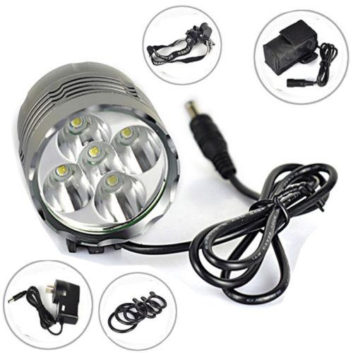 8000Lm 5x XML U2 LED Bicycle Light Front Bike Lamp Headlamp Head Headlight Torch waterproof sturdy 8000lm 5x xm l u2 led bicycle light bike headlamp head lamp headlight 2 laser 5 led rear light with 3 mode