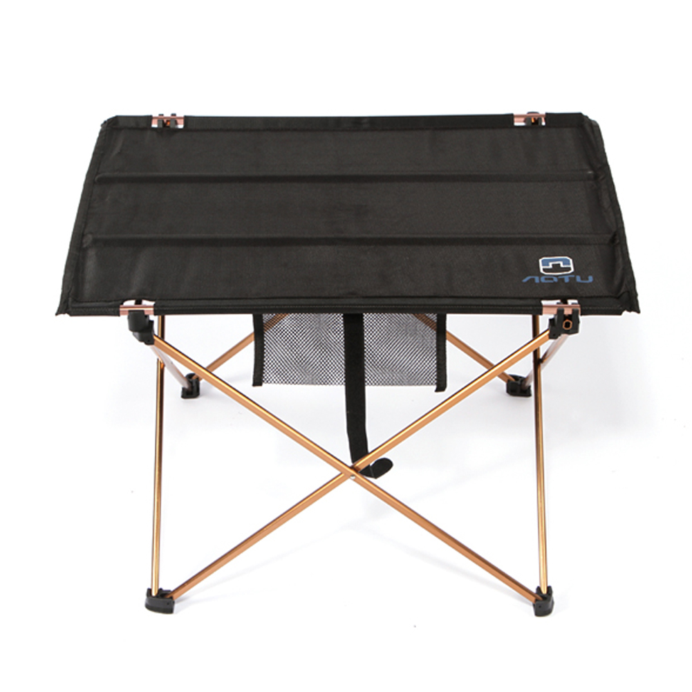 Lightweight Aluminium Alloy Portable Folding Table for Camping Outdoor Activties Foldable Picnic Barbecue Desk L56*W42*H37cm alluminum alloy magic folding table bronze color magic tricks illusions stage mentalism necessity for magician accessories