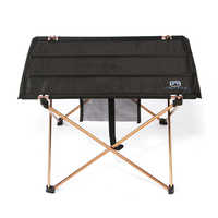 Lightweight Aluminium Alloy Portable Folding Table for Camping Outdoor Activties Foldable Picnic Barbecue Desk L56*W42*H37cm