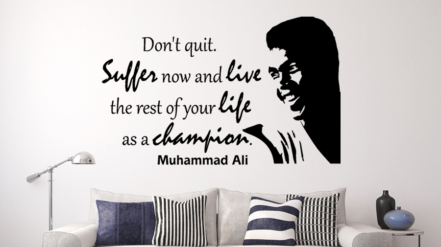 Aliexpress Com Buy Motivational Quotes Muhammad Ali Dont