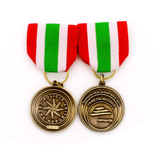 Custom Metal Badge Hot Sale Zinc Alloy Die Casting Antique Copper 3D Medal