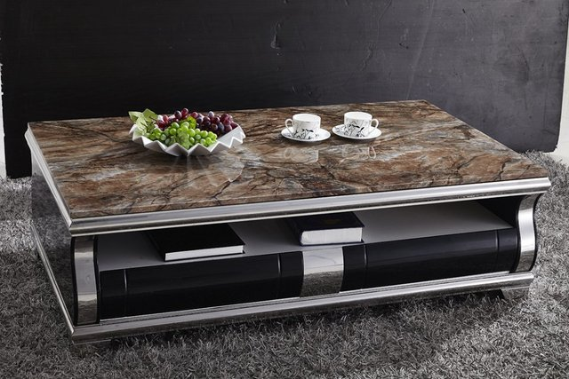 Marble Top Coffee Table/marble Tea Table/stainless Steel Coffee Table