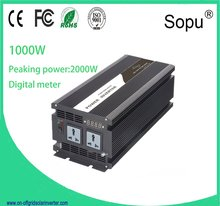FREE SHIPPING 1000W SOLAR SYSTEM INVERTER DC12V 24V 48V TO AC 220V 110V PURE SINE WAVE OUTPUT Wind/Car/ Power Converter/CABLE