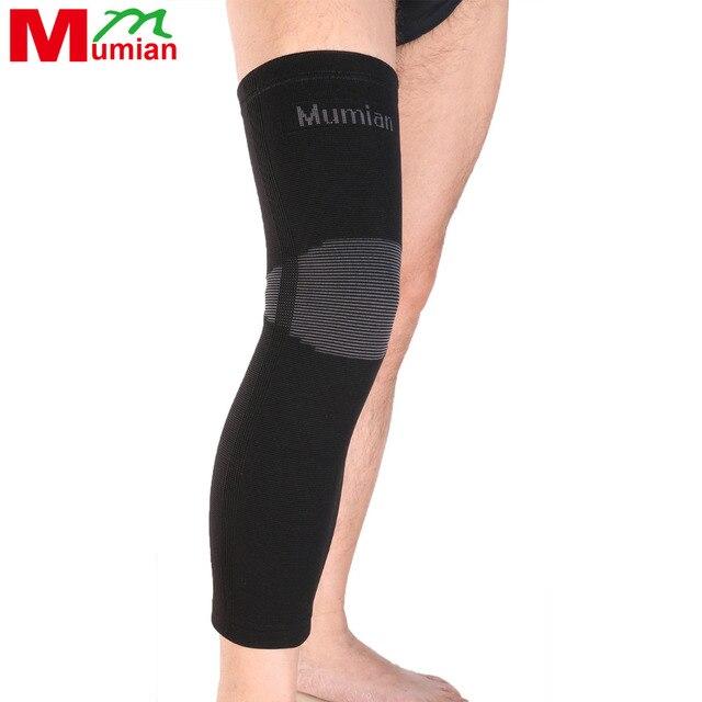 2018 New Mumian Elastic Sports Long Leg Knee Support Brace Wrap Protector Pads Sleeve Cap Patella Guard Volleyball A06 - 1pcs