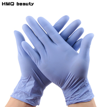 5 pairs of blue rubber antibacterial sterilizable reusable elastic finger gloves eyelash extension makeup tool accessories