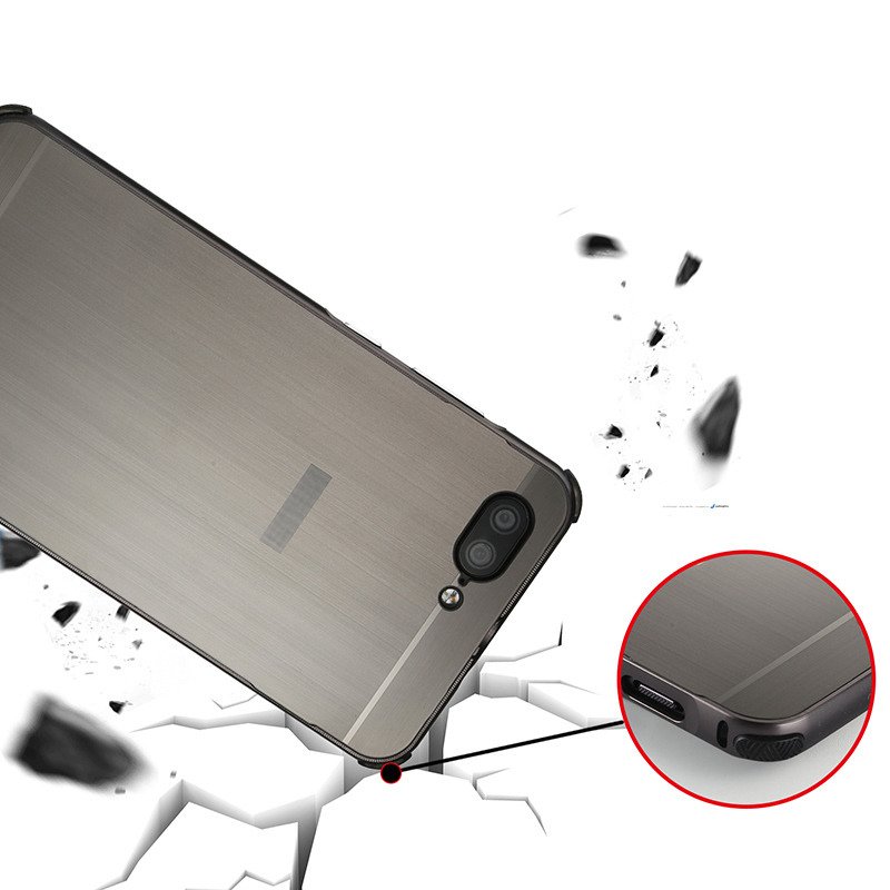 For Asus Zenfone 4 Max ZC520KL Case Brushed Back Cover Hard Case with Plating Metal Frame Case for Asus Zenfone 4 Max ZC520KL in Fitted Cases from Cellphones Telecommunications