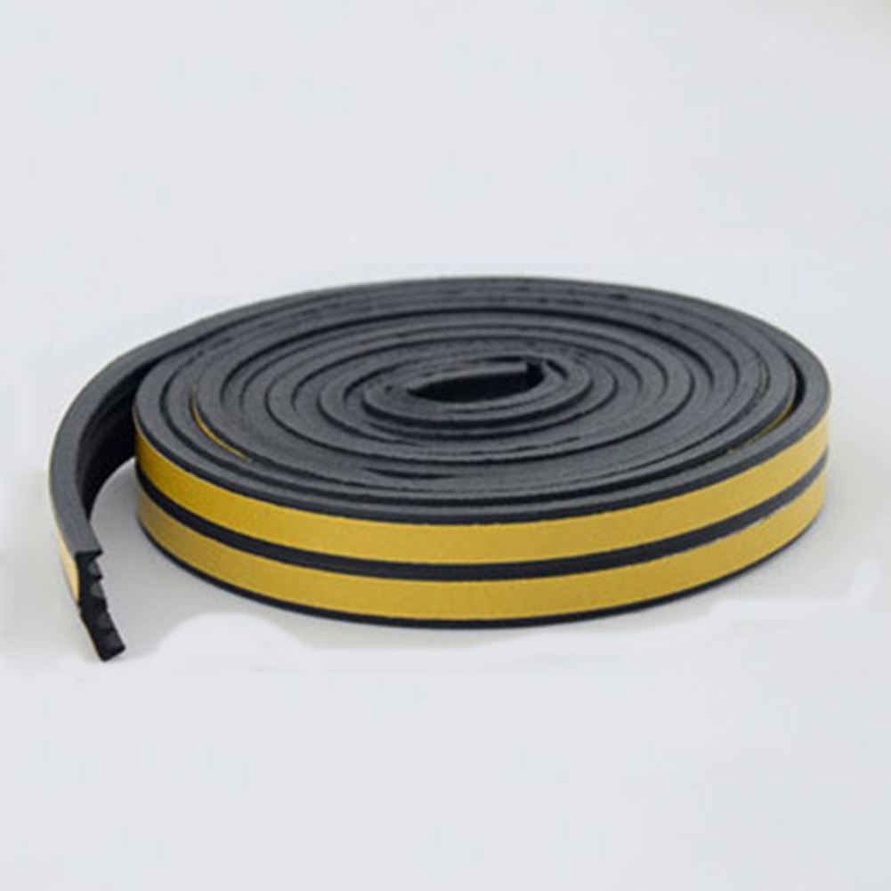 5M House Soft EPDM Self Adhesive Window Door Draught Seal Tape Draft Draught Excluder Strip Foam Roll Bath Kitchen Sealing Strip