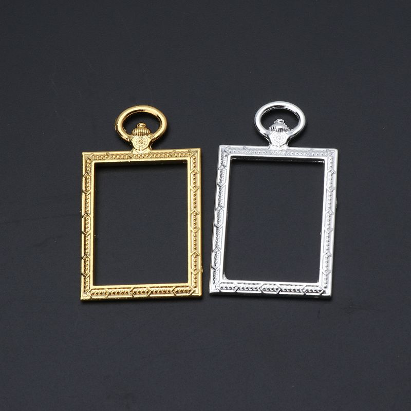 10 pcs lot Round Metal Pocket Watch Gold Frame Pendant Charm Frame Fit Cabochon Set UV Resin Charms in Jewelry Findings Components from Jewelry Accessories