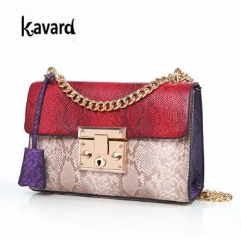 2018 Kavard Mini Flap Famous Brands luxury handbags Women Bag Women's Handbag Hand Bag Ladies PU Leather Serpentin Crossbody Bag