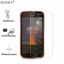 2pcs Screen Protector Glass For Nokia 1 Tempered Anti-brust Full Coverage HATOLY