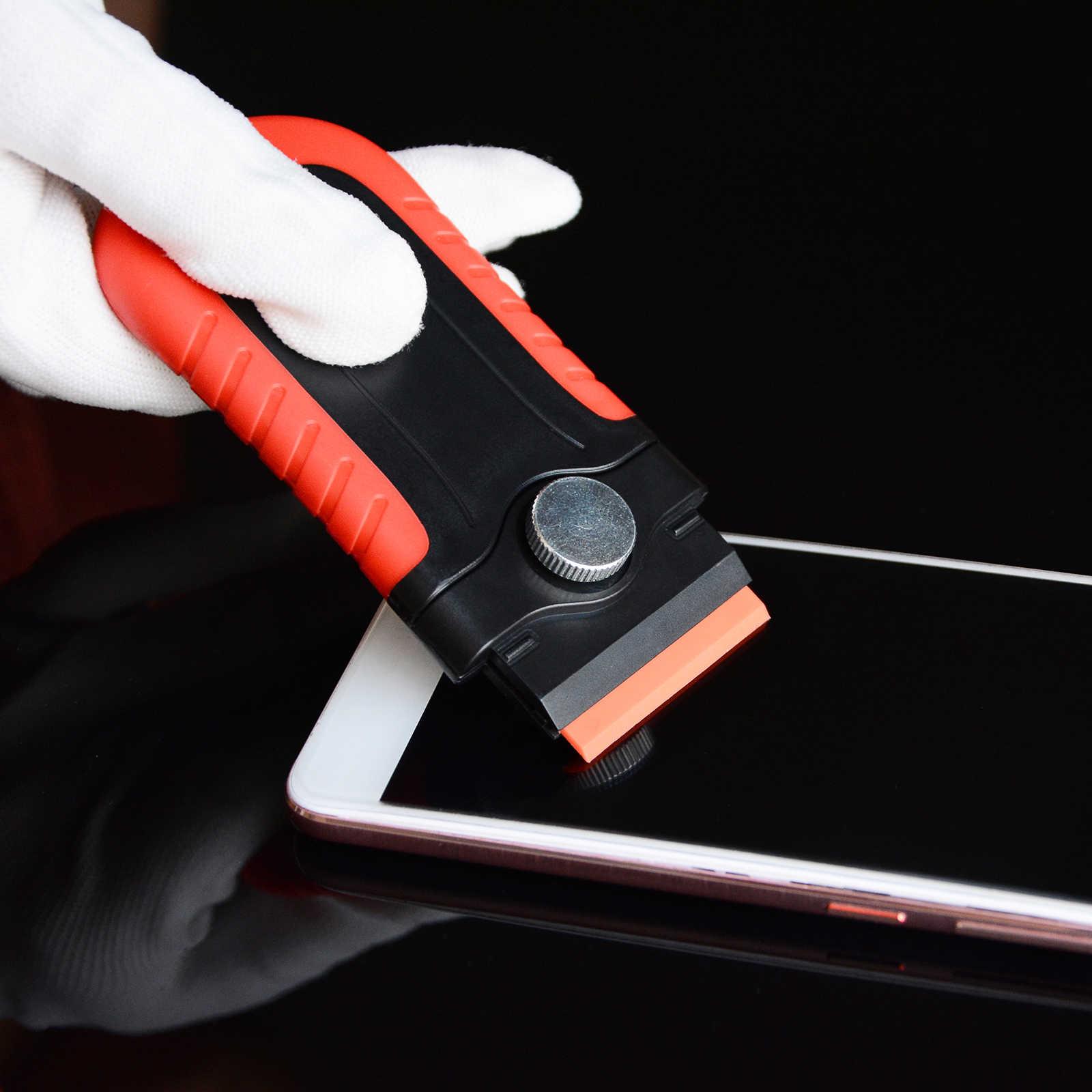 EHDIS виниловая пленка, скребок для бритвы + 100 шт. пластиковые лопасти, автомобильный стикер для удаления углеродистой пленки, автоматическая упаковка, Ракель, инструмент для очистки