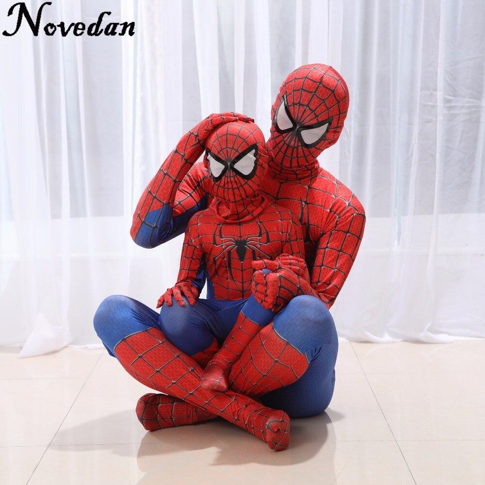 Костюм человека паука красный, черный