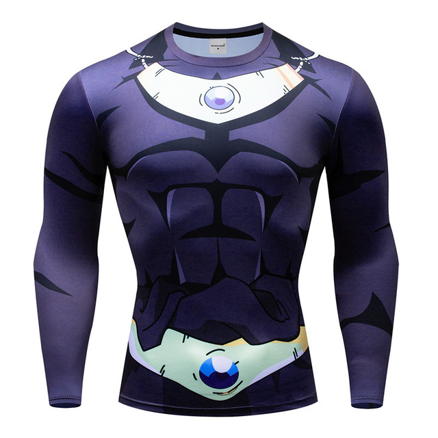 8993b074a Compression T shirt Long Sleeve Dragon Ball Comics Vegeta Goku T-shirt  Cosplay Costume Fitness Tees Shirts Workout Tshirt XXXL