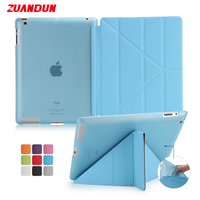 ZUANDUN Smart Leather Case Cover For Apple IPad 2 3 4 Magnetic Flip Cover For Apple