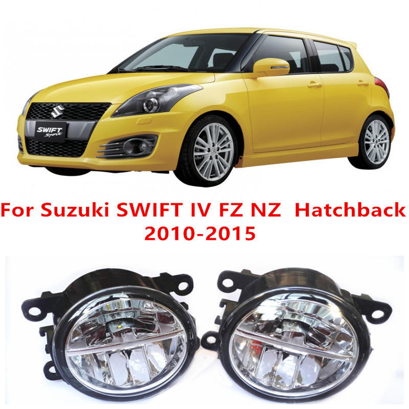 For Suzuki SWIFT IV FZ NZ  Hatchback  2010-2015 Fog Lamps LED Car Styling 10W Yellow White 2016 new lights for suzuki swift mz ez hatchback 2005 2015 10w high power lens fog lights car styling fog lights 1set