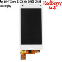 Redberry ORIGINAL Touch Screen LCD For SONY Xperia Z3 Compact Display Frame Z3 Mini D5803 D5833
