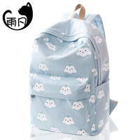 YuFan Student Backpack Fresh School Bags For Girls Cute Character Prints Women Shoulder Bags Anti Theft