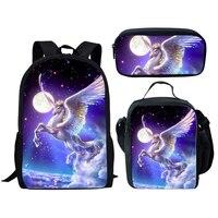 Pcs/Set Adorable Unicorn Horse School Bags for Girls Boys Kids Bags School Backpacks Children Shoulder Bookbag 018