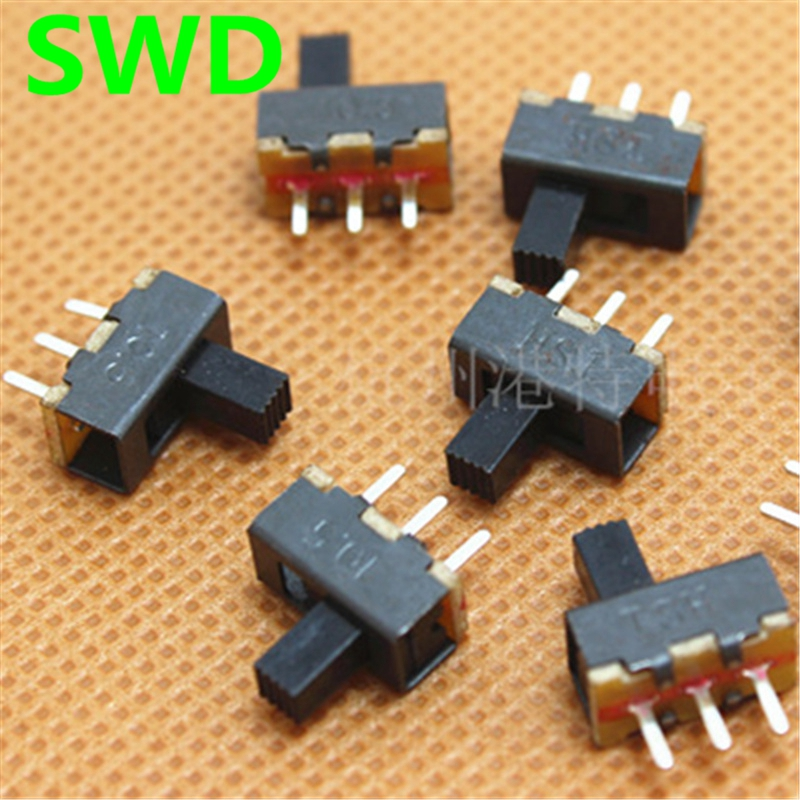 20pcs SS12F17G4 2 Position SPDT 1P2T 3 Pin PCB Panel Mini Vertical Slide Switch #DSC0039 new 50pcs lot miniature slide switch spdt 3 pin pcb 2 position 1p2t side knob handle high 3mm sk12d07vg3