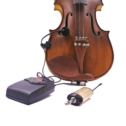 4/4 violin fiddle wireless microphone system UHF bodypack transmitter rechargeable receiver portable instrument pickup radio mic