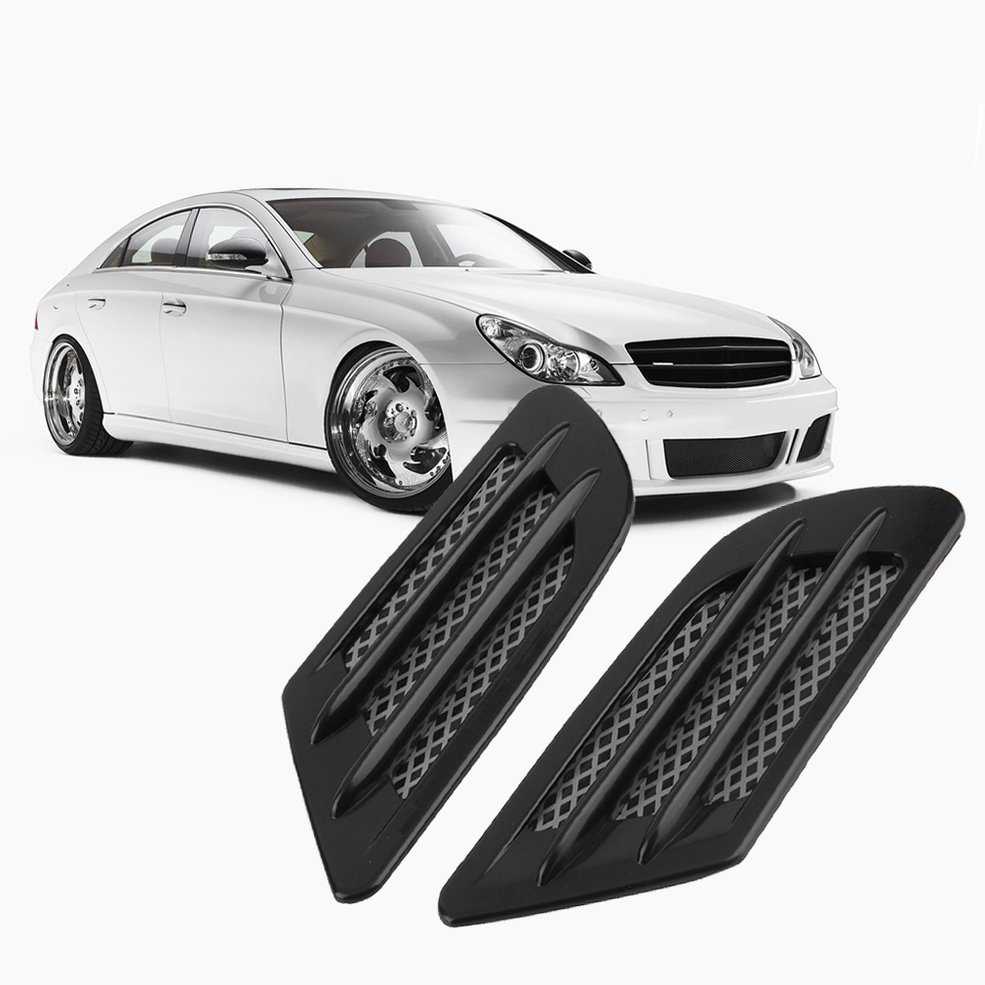 2 Pieces Car Side Air Flow Vent For Fender Hole Cover Intake Grille Duct Decoration ABS Plastic Sticker Hot