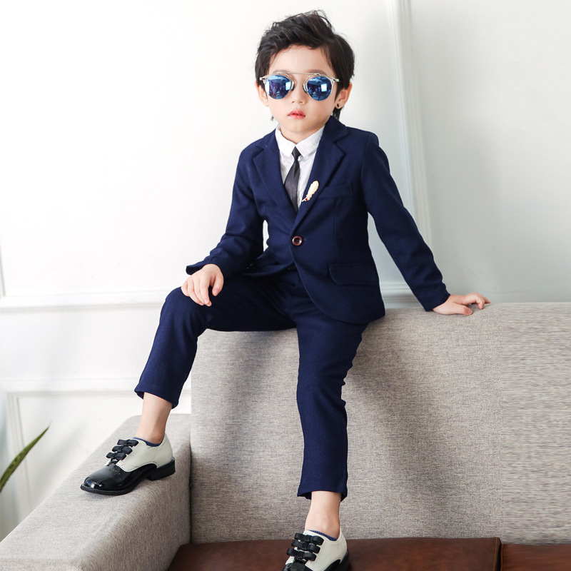 2019 Boys Suits for Weddings (Blazer+Pant) Kids Formal Suits Kids Blazer Suit Korean Jacket for Boy Birthday Suits 2-10Y2019 Boys Suits for Weddings (Blazer+Pant) Kids Formal Suits Kids Blazer Suit Korean Jacket for Boy Birthday Suits 2-10Y