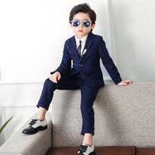 2019 Boys Suits for Weddings (Blazer+Pant) Kids Formal Blazer Suit Korean Jacket Boy Birthday 2-10Y