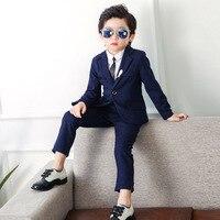 2019 jungen Anzüge für Hochzeiten (Blazer + Hose) kinder Formale Anzüge Kinder Blazer Anzug Koreanische Jacke für Jungen Geburtstag Anzüge 2 10Y-in Anzüge aus Mutter und Kind bei