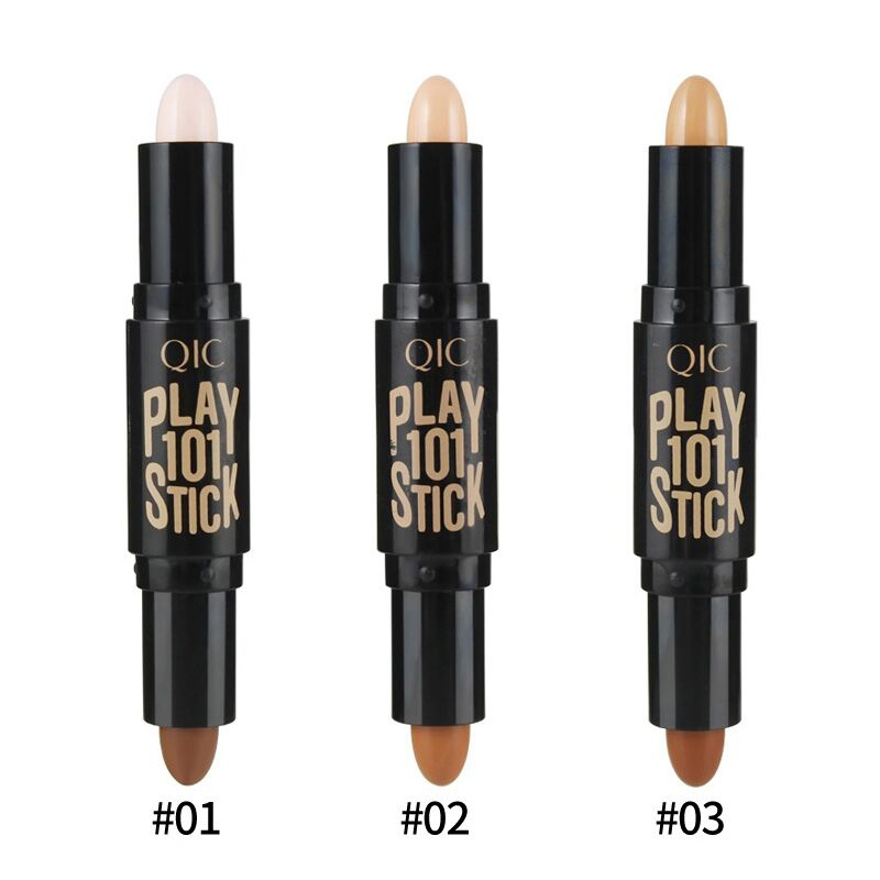 Lady Highlight Contour Stick Beauty Makeup Face Powder Cream Shimmer Concealer Pen 2017 image
