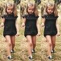 2016 Moda Casual Meninas Do Bebê Roupa Dos Miúdos Bebes Sunsuit Bodysuit Roupa Playsuit Babados Bonito Meninas Da Criança Bodysuit 0-5 T