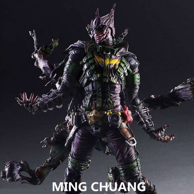 Justice League Batman PLAY ARTS Joker Jack Napier PVC Action Figure Collectible Model Toy with retail box 26 cm Q44 anime playarts dc justice league batman batwoman pvc action figure collectible model toy chirstmas gift 25cm