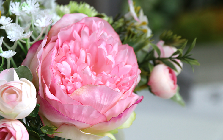 Wedding Bouquet for bridesmaids flowers artificial rose peony (14)