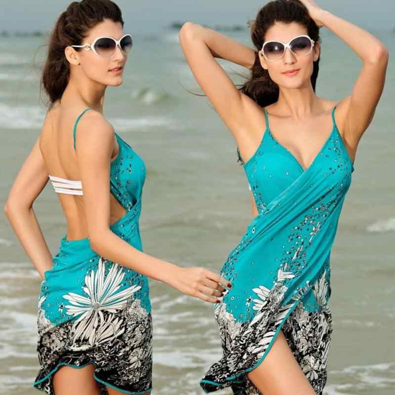 2176e16aa2 ... Summer Dress Summer Beach Style Dress Fashion Women Strap Backless Sexy  V-neck Dress One ...