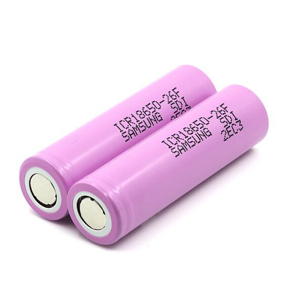 2pcs/lot New 3.7V 2600mAh Rechargeable 18650 Li-ion Battery Original Lithium Battery For Samsung ICR18650 26F Batteries image