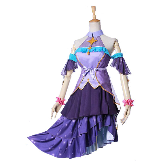 COSPlAY Megurine Luka starry sky dream purple skirt Cos Clothes