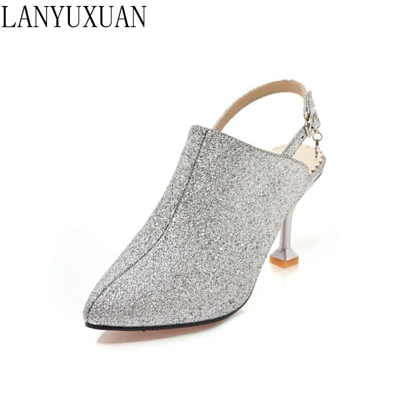 Sexy fashion women Small Big Plus Size 28-52 Shoes woman Sandals Platform Summer Style Pointed toe high heels wedding pumps Y418 summer bling thin heels pumps pointed toe fashion sexy high heels boots 2016 new big size 41 42 43 pumps 20161217