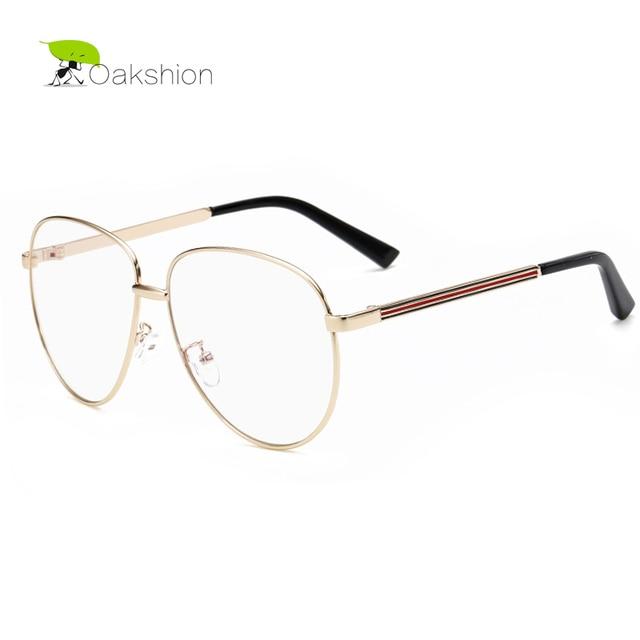 9603c0f8053 Aviator Clear Glasses Women Spectacles Frame Vintage Men Gold Rimmed Optical  Eyeglass Frame Male Clear Lens