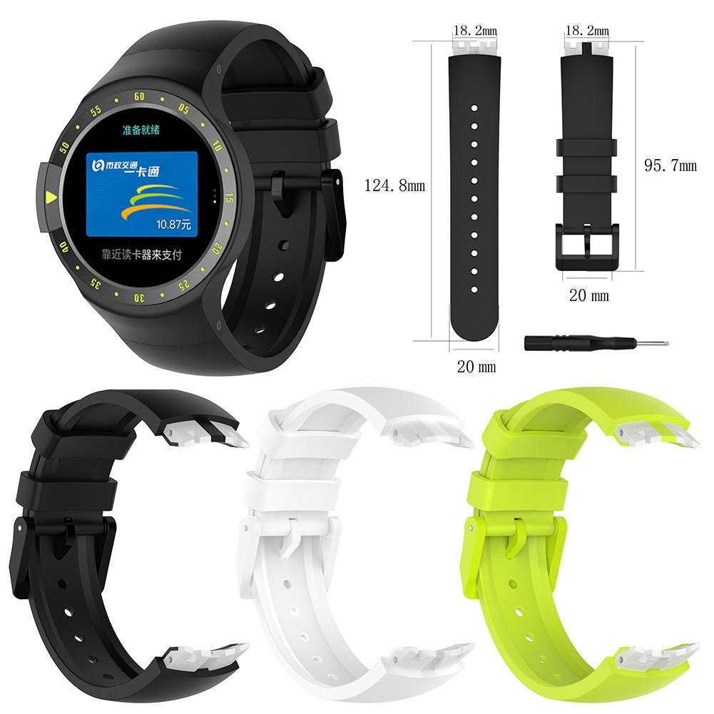 Tragbare Geräte UnabhäNgig Hohe Qualität Weichen Silikon Ersatz Uhr Band Handgelenk Gurt Für Ticwatch S Smart Uhr Für Ticwatch S Bands Straps W /werkzeuge