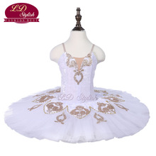 Kids White Ballet Tutu Sleeping Beauty Performance Stage Wear Girls Ballet Dance Competition Costumes Women Ballet Skirt Apperal