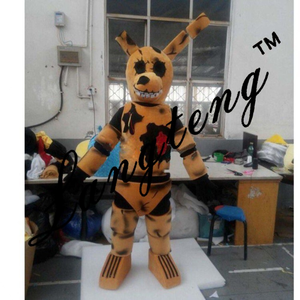five nights at freddy s fnaf toy creepy brown bunny mascot costumes
