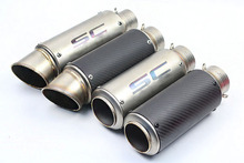 Universal 60MM Inlet Carbon fiber Exhaust Muffler With Movable DB Killer Motorcycle Dirt Bike Street Bike Scooter good sound