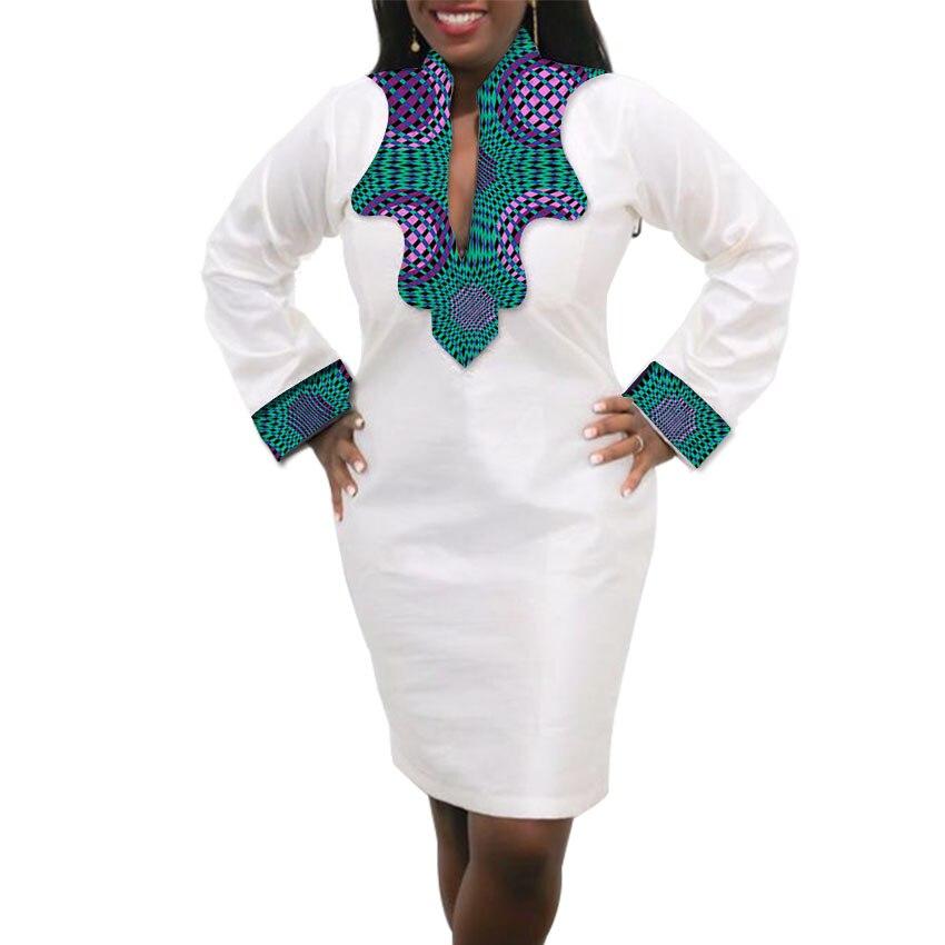 Femmes Robe Africaine Custom Made Dashiki Imprimer Vêtements Cire Et - Vêtements nationaux - Photo 5