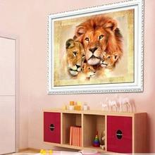 DIY 5D Diamond Mosaic Lion tiger Handmade  Painting Cross Stitch Kits Embroidery Patterns Rhinestones Arts