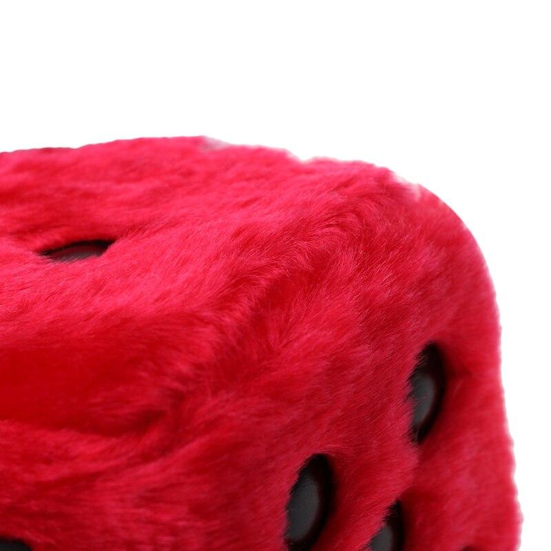 Coche Grande Peludo Fuzzy dados Colgante Retro Personalizado hotrod rata Rojo Dangly van