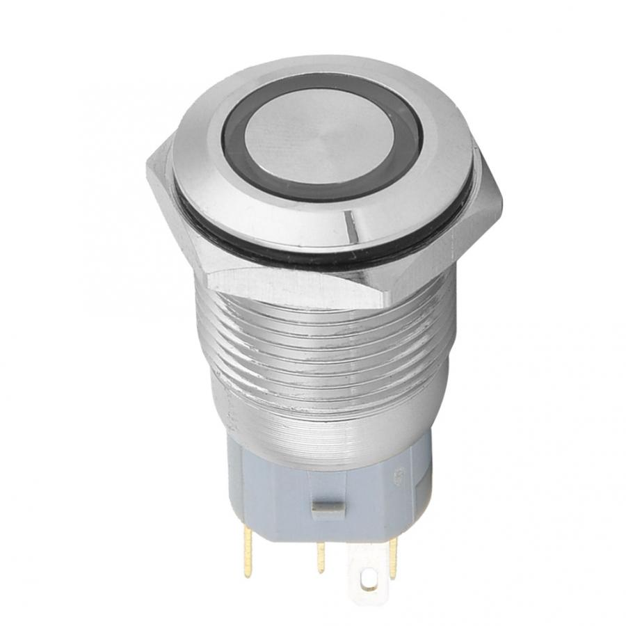 Toggle Switch Light Switch 40pcs 16mm Metal Momentary Push Button Switch Auto Reset 5-Pin With 12V LED Light Switch 2019Toggle Switch Light Switch 40pcs 16mm Metal Momentary Push Button Switch Auto Reset 5-Pin With 12V LED Light Switch 2019