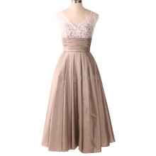 Midi Formal Evening Dresses Women White Lace Taffeta vestido de noiva vestidos novia cocktail dresses robe soiree longue
