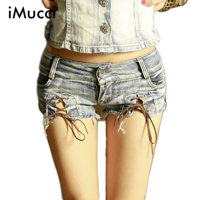 New Arrival Low Waist Sexy Denim Shorts Female European and American Style Hole Ripped Skinny Jeans Shorts Slim Summer Shorts