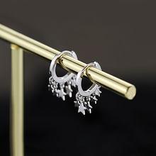 ANENJERY – boucles d'oreilles pour femmes, en argent Sterling 925, tendance, étoile, pompon, or