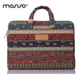 MOSISO Brand Bohemian Style For Macbook Air Pro 11 13 15inch Notebook Laptop Lady  Briefcase Handbag Computer Zipper Sleeve Case